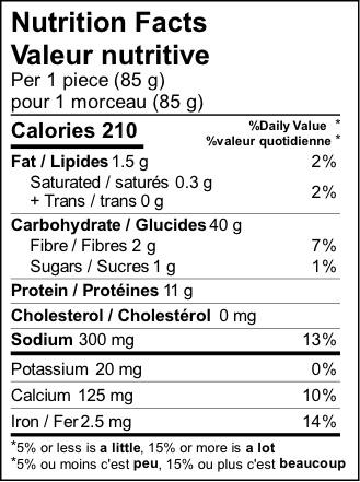 product detail pita greek nutrition label
