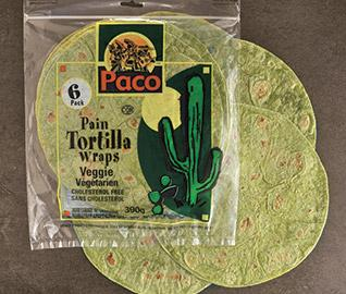 veggies tortillas